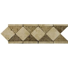"Natural Stone 12"" x 4"" Classic Lt Travertine Listello"