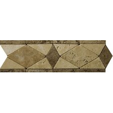 "Natural Stone 12"" x 4"" Malabar Travertine Listello"