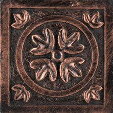 "Camelot 2"" x 2"" Guinevere Dot in Copper"