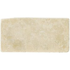 "Natural Stone 8"" x 16"" Travertine Field Tile in Ancient Beige"