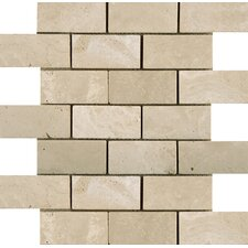 """Natural Stone 2"""" x 4"""" Travertine Subway Tile in Ancient Beige"""