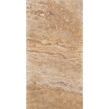 "Natural Stone 16"" x 8"" Travertine Field Tile in Scabos"