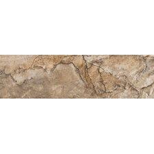"""Eurasia 13"""" x 3"""" Bullnose Tile Trim in Noce"""