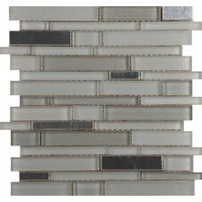 Flash Sized Glass Mosaic Tile in Bright