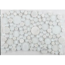 Lucente Random Sized Glass Mosaic Tile in Ambrato