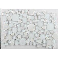 Lucente Random Sized Glass Mosaic Tile in Ambrato