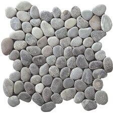 Venetian Random Sized Pebble Tile in Silver