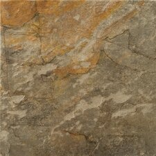 "Bombay 13"" x 13"" Porcelain Metal Tile in Salsette"