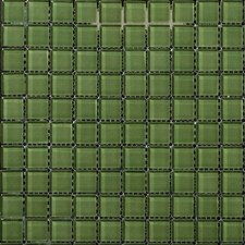 "Lucente 1"" x 1"" Glass Mosaic Tlie in Billiard Green"