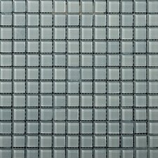 "Lucente 1"" x 1"" Glass Mosaic Tile in Cielo"
