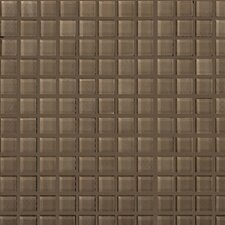 "Lucente 1"" x 1"" Glass Mosaic Tile in Soft Mauve"