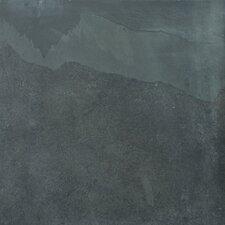 """Natural Stone 12"""" x 12"""" Slate Field Tile in Brazilian Black"""