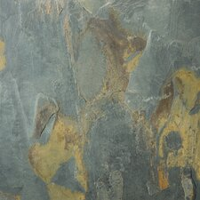 """Natural Stone 12"""" x 12"""" Slate Field Tile in Rustic Gold"""