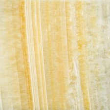 "Natural Stone 12"" x 12"" Onyx Field Tile in Golden Honey"