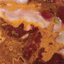 "Natural Stone 12"" x 12"" Onyx Field Tile in Sunset Red"