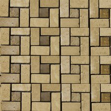 Natural Stone Random Sized Travertine Mosaic Tile in Beige and Mocha