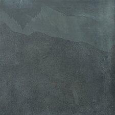 """Natural Stone 16"""" x 16"""" Slate Field Tile in Brazilian Black"""