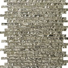 Vista Random Sized Glass Mosaic Tile in Balbi Linear
