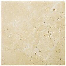 "Natural Stone 16"" x 16"" Travertine Field Tile in Ancient Beige"