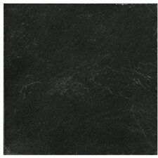 """Natural Stone 12"""" x 12"""" Slate Field Tile in Midnight Black"""