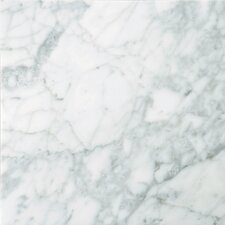 "Natural Stone 18"" x 18"" Marble Field Tile in Bianco Gioia"