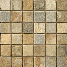 """2"""" x 2"""" Slate Mosaic Tile in Golden Sand"""