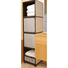 """Yube 14.2"""" x 58.3"""" Free Standing Linen Tower"""