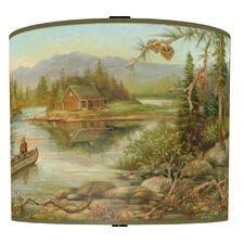 Rustic Creek Drum Lamp Shade