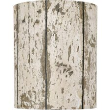 Weathered Wood Drum Lamp Shade