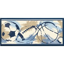 Sports Ball Framed Graphic Art on Plaque