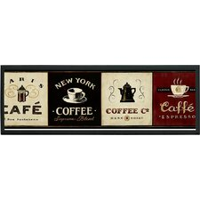 Coffee Signs Framed Vintage Advertisement on Plaque