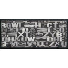 'Letterpress Sand Typography' Framed Painting Print