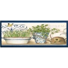 Blue Herb Wall Décor