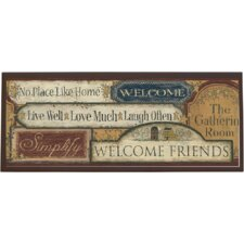 Country Sign Graphic Art on Plaque