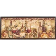 Wine Still Life Painting Print on Plaque