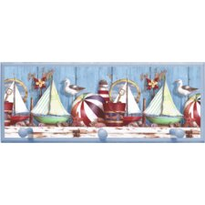 Ships with Pegs Painting Print on Plaque