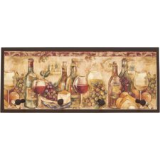 Wine Still Life with Pegs Painting Print on Plaque