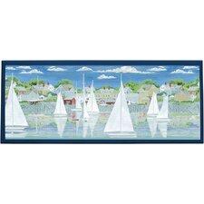 Racing Yachts Framed Painting Print