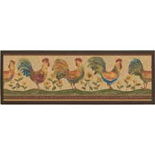 Roosters Framed Painting Print