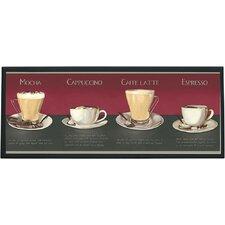 Coffee Recipe Framed Vintage Advertisement
