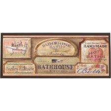 Bath House Vintage Framed Textual Art on Plaque
