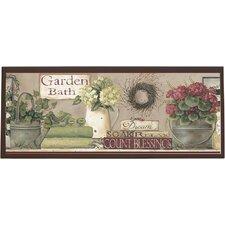 Garden Bath Framed Painting Print