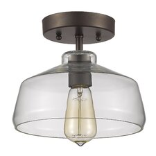 Ironclad 1 Light Semi Flush Mount