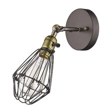 Ironclad 1 Light Metal Wall Sconce