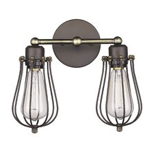 Ironclad 2 Light Wall Sconce