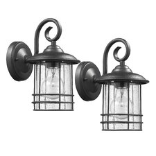1 Light Outdoor Wall Lantern (Set of 2)