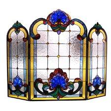 Tiffany 3 Panel Bronze Fireplace Screen
