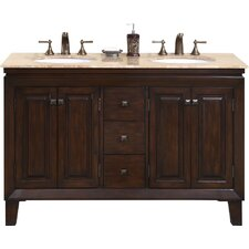 """Jessica 55"""" Double Bathroom Vanity Set"""