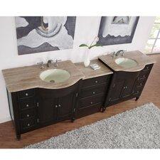 """Hamilton 95"""" Double Bathroom Vanity Set"""