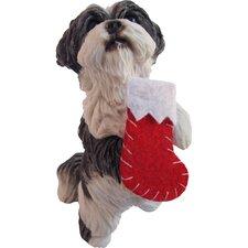 Standing Shih Tzu Christmas Ornament